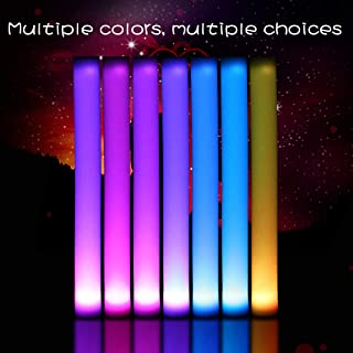 Fun Central 12 Pack - LED Supreme Foam Stick Baton Bulk - Light Up Batons for Wedding, Concert and Party - Multicolor