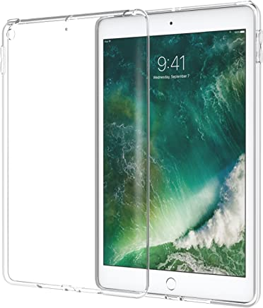 Atic Fit 2018/2017 iPad 9.7 6th/5th Generation - Premium Soft Skin Flexible Bumper Transparent TPU Rubber Back Cover Protector Fit Apple iPad 9.7 Inch 2018/2017, Crystal Clear