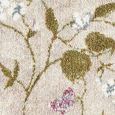 """Brumlow Mills Butterfly Floral Area Rug for Kitchen, Dining, Living Room, Bedroom, Doorway Mat or Home Accent Carpet, 20"""""""