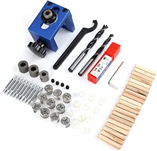 Juego de guías de perforación de centrado autocentrante, kit de orificios para taladrar herramientas de mano kit de guías de taladrado Localizador de posicionamiento de carpintería