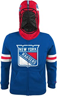 Reebok New York Rangers NHL Youth Goalie Mask Full Zip Fleece Hoodie
