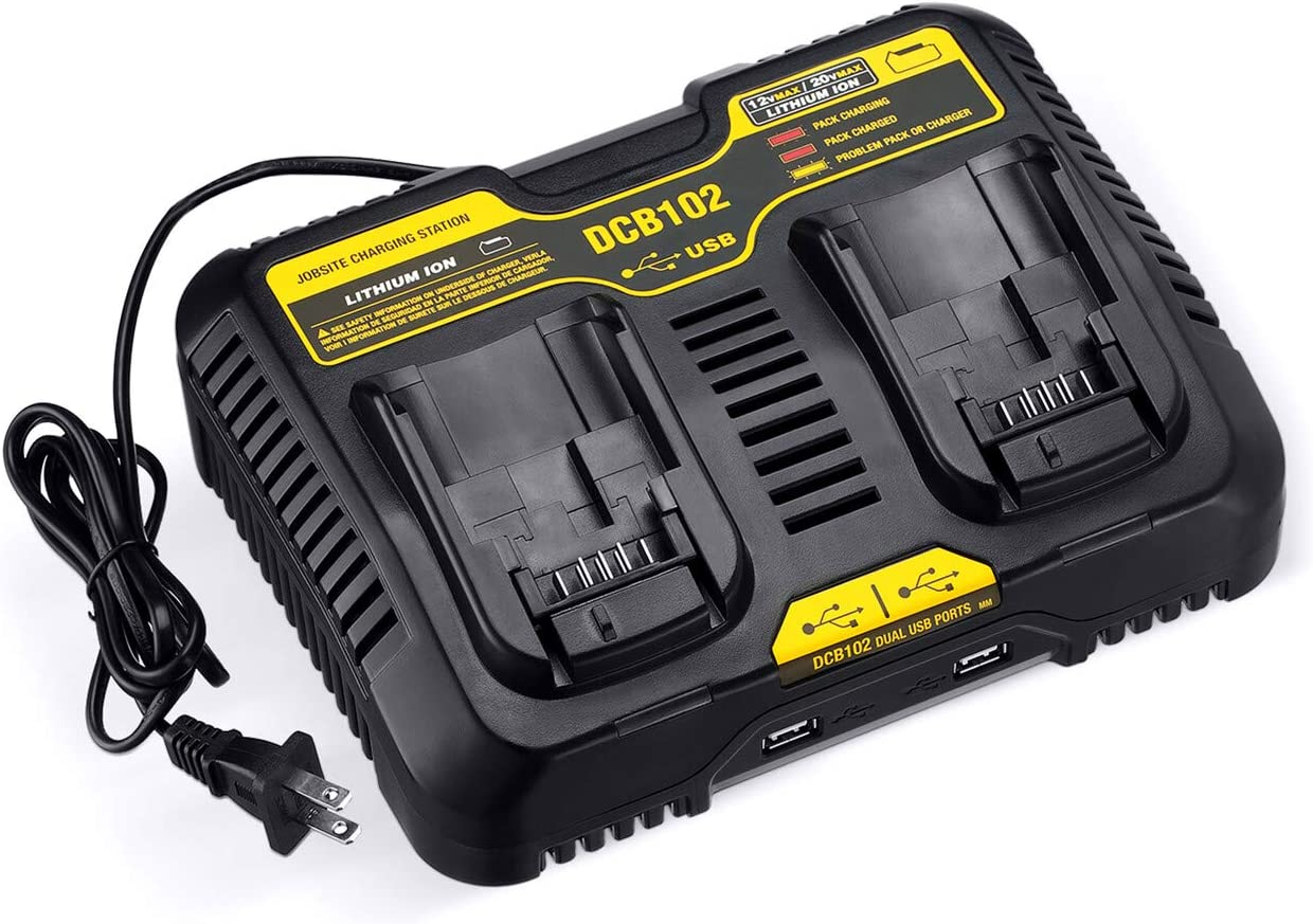Powerextra 12 High quality new 20V MAX Max 68% OFF Charging Station DCB102 D for Charger Dual