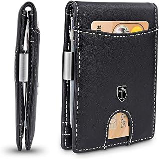 """TRAVANDO Portafoglio uomo piccolo con protezione RFID """"ZURICH"""" Porta carte di credito con clip per contanti, Portafogli Po..."""