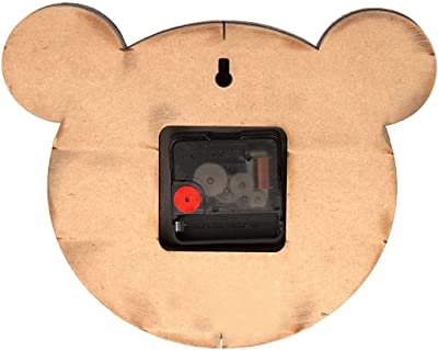 Haathi Chaap - Pigloo The Pig - Animal Shaped Wall Clock Without Glass - 1 Paper Wall Clock - Eco Friendly/Recycled Elephant Dung Paper/Handmade (Pink, 1)