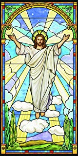risen christ stained glass