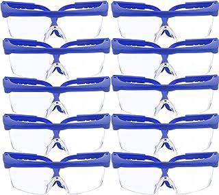 f3e4130278 Lot de 10 Lunettes de sécurité et lunettes de protection, réglable Bleu  cadres pour enfants