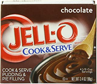 Jell-O Chocolate Cook & Serve Pudding & Pie Filling 3.4 oz (96g) 4-Pack