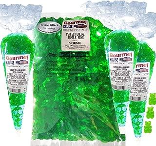 Albanese Gummi Bears-Green Gummy-Apple-Bulk-5lb Bag Plus (3) Green Apple Gummy Bears Gourmet Kruise Gift Bags 11 OZ 4 Bags (2) Item Bundle