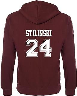 Beacon Hills Stilinski Lahey McCall Lacrosse Hoodie - Teen Wolf Hooded Sweatshirt Sports Burgundy Colour