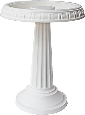 "Bloem Grecian Bird Bath with Pedestal, 24"" x 19"", White (BB2-10)"