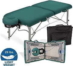 EARTHLITE Portable Massage Table LUNA - Ultra-Lightweight, Patented Aluminum Reiki Frame incl. Flex-Rest Face Cradle & Carry Case (29lb)