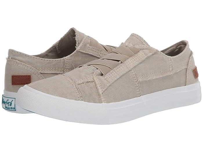 Blowfish  Marley (Jasmine Tea Color Washed Canvas) Womens Flat Shoes