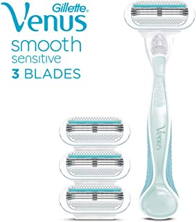 Gillette Venus Smooth Sensitive Women's Razor - 1 Handle + 4 Refills