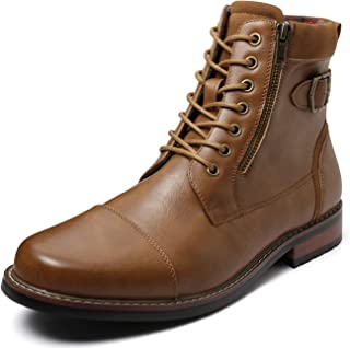 ZRIANG Men's Dress Ankle Motorcycle Leather Lined Derby Oxford Boots