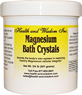 Health and Wisdom Inc, Magnesium Bath Crystals, 3/4 lb (341 g)