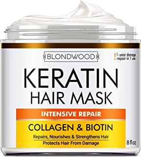 Biotin Collagen Keratin Treatment - Keratin Treatment for Dry & Damaged Hair - Collagen Hair Vitamin Complex - Best Hair R...