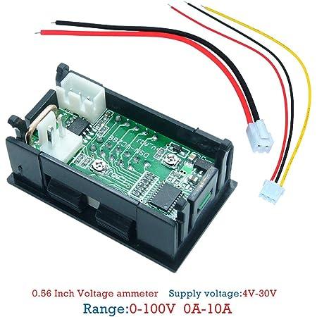 Ncbvixsw Neue Mini Digital Voltmeter Amperemeter Dc 100 V 10a Panel Amp Volt Spannung Strom Meter Tester 0 28 Blau Rot Dual Led Display Auto