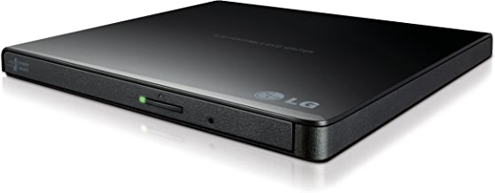 LG Electronics 8X USB 2.0 Super Multi Ultra Slim Portable DVD Writer Drive +/-RW External Drive with M-DISC Support (Black) GP65NB60