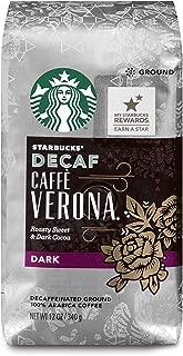 Starbucks Decaf Caffè Verona Dark Roast Ground Coffee, 12-Ounce Bag (Pack of 6)