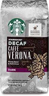 Starbucks Decaf Caffè Verona Dark Roast Ground Coffee, 12 Ounce (Pack of 6)