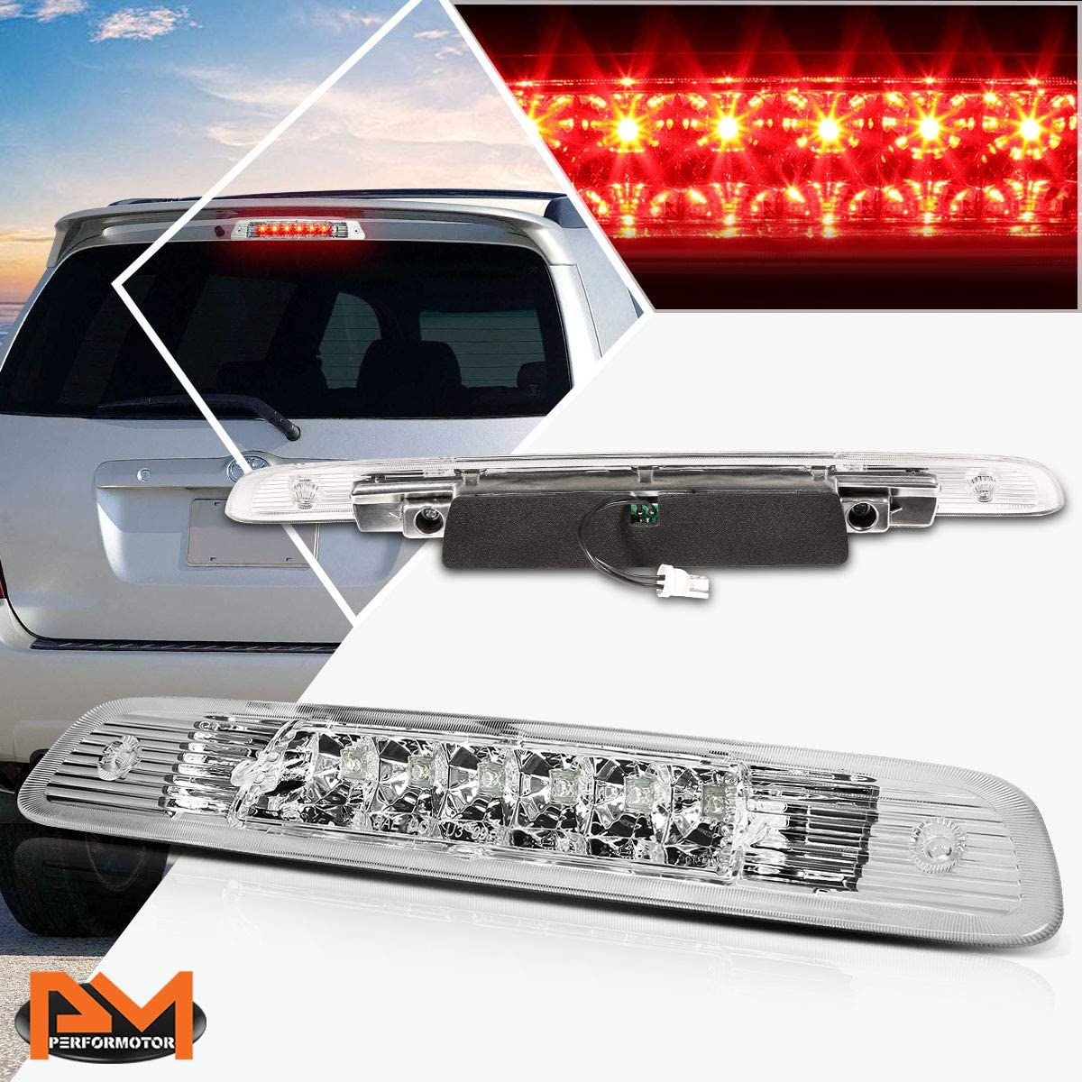 Compatible with Highlander 01-03 Dual Rows 3RD LED Omaha Mall Tail Br Third Free shipping on posting reviews