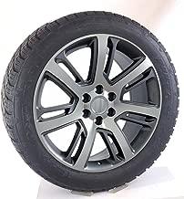 22 Inch Machine and Gunmetal 22x9 Wheels Rims 285/45R22 Nitto Terra Grappler Tires Lugs TPMS SET Fits Chevy Silverado Tahoe GMC Sierra Yukon Cadillac Escalade