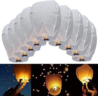 Sky lanterns,China sky ballons - 9 pcs,white