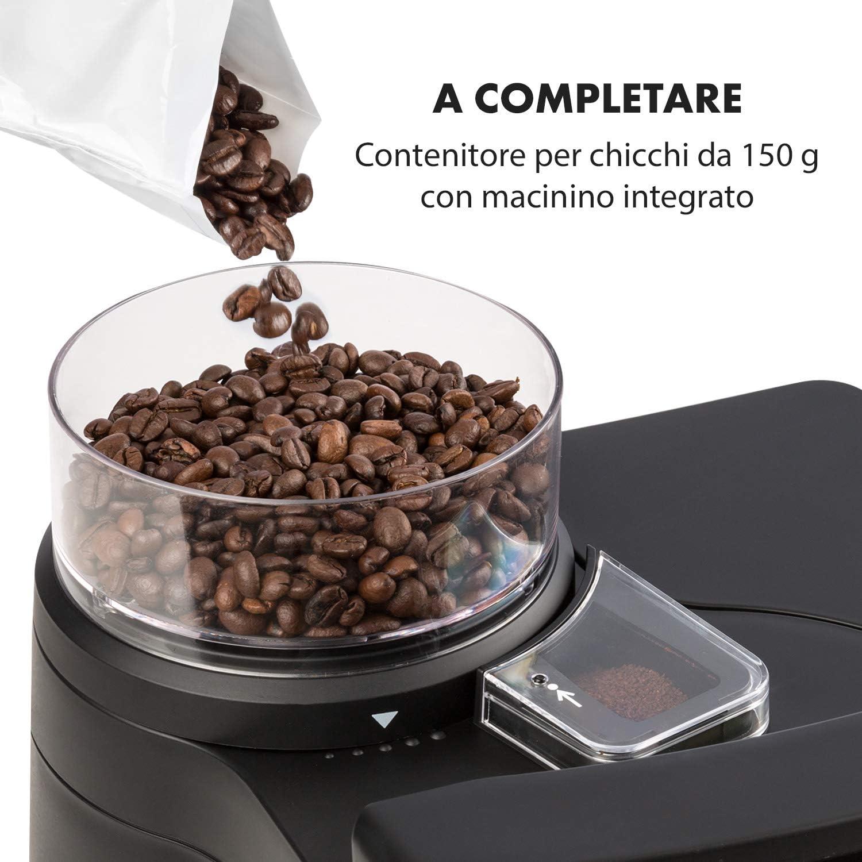 KLARSTEIN Aromatica II Duo Thermos: 1,25 L Macchina da Caff/è con Macinacaff/è con Filtro Nero 1000 W Brocca di Vetro: 1,25 L Timer 24 Ore Contenitore Chicchi 150 g