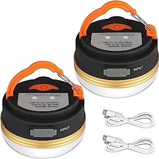 Yizhet LED campinglykta, USB uppladdningsbar campinglampa ficklampor och powerbank, campinglampa med magnetisk bas 3 lägen...