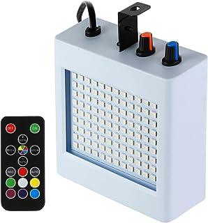 Eyourlife Stroboskop LED Strobe Blitz Licht Bühnenbeleuchtung für Disco KTV Bühne Bar Party Disco Hochzeit Geburtstage Stadiums (108 LEDs Strobe Light)