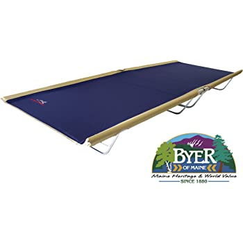 "BYER OF MAINE, Allagash Plus, Cot, 76"" L X 30"" W X 8"" H, Lightweight Cot, Extra Wide, Camping Cots Adult, Holds up to 250lbs, Single, Portable Camping Cot"