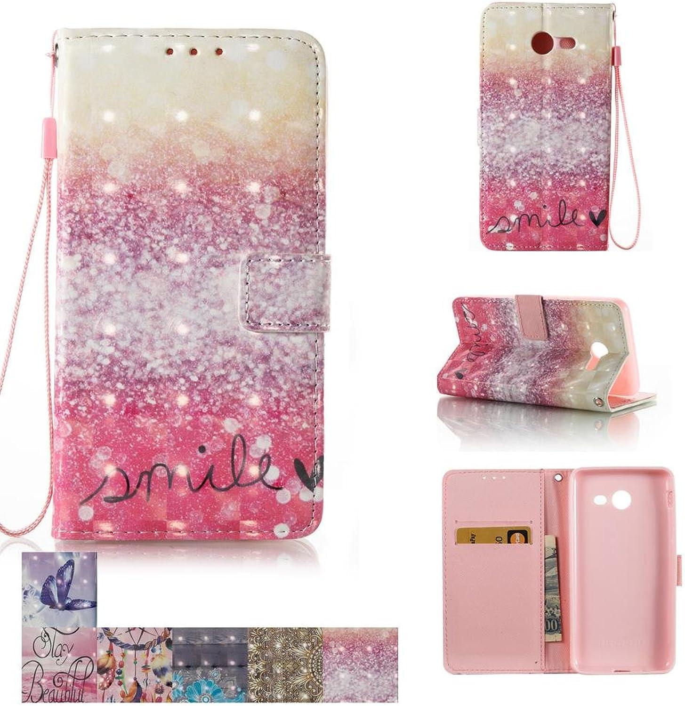 Galaxy J5 Prime Case, Galaxy On5 2016 Case, Firefish [Kickstand] [Card Cash Slots] Flip Cover Impact Dispersion Wallet Wrist Strap Samsung Galaxy J5 Prime   J5 (2017)   On5 (2016) Smile