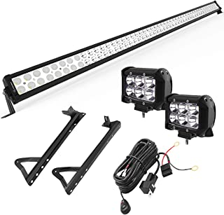 """Best YITAMOTOR 52"""" inch 300W Combo+ 2X 18W Spot LED Light Bar + Mounting Brackets+Wiring for JEEP JK Wrangler Reviews"""