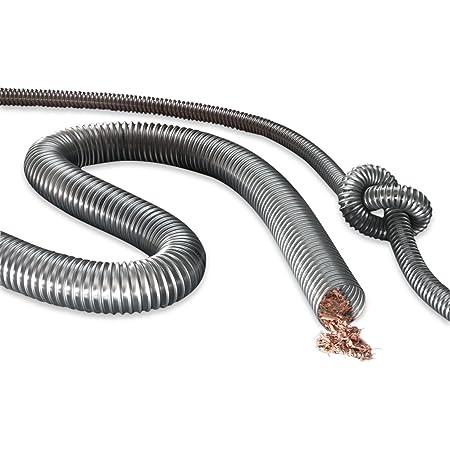 Holzpellets Spiralschlauch aus PVC FLEXTUBE S-AS 30mm Pulver F/örderschlauch f/ür Fl/üssigkeiten L/änge 25m Granulat antistatischer Druck- und Saugschlauch schwerer Sch/üttgut