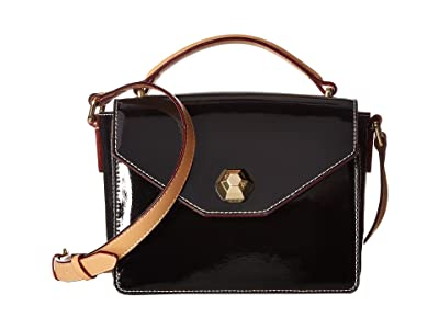 Frances Valentine Mini Midge Crossbody (Black) Cross Body Handbags
