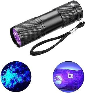 Elephant xu Black Flashlight, UV Flashlight, UV Flashlight, Handheld Black Light Detector for Spot Carpet Pet dog urine detection light, stains and bugs