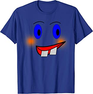 Emoji Wacky Face T-Shirt Wack Crazy Funny Costume Top Tee
