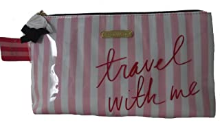 Victoria's secret Glamorous Pink Stripes Always & Forever Cosmetic Bag