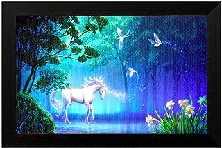 Pintura Unicorn Framed Print-On-Canvas Vastu Painting 20x14 (Inch) for Gifting Purpose # Wall Art # Home Décor # Art Print...