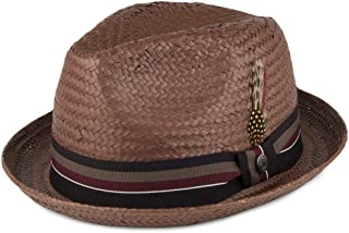 3a1fad4320e8bc Amazon.co.uk: Brown - Fedoras & Trilby Hats / Hats & Caps: Clothing