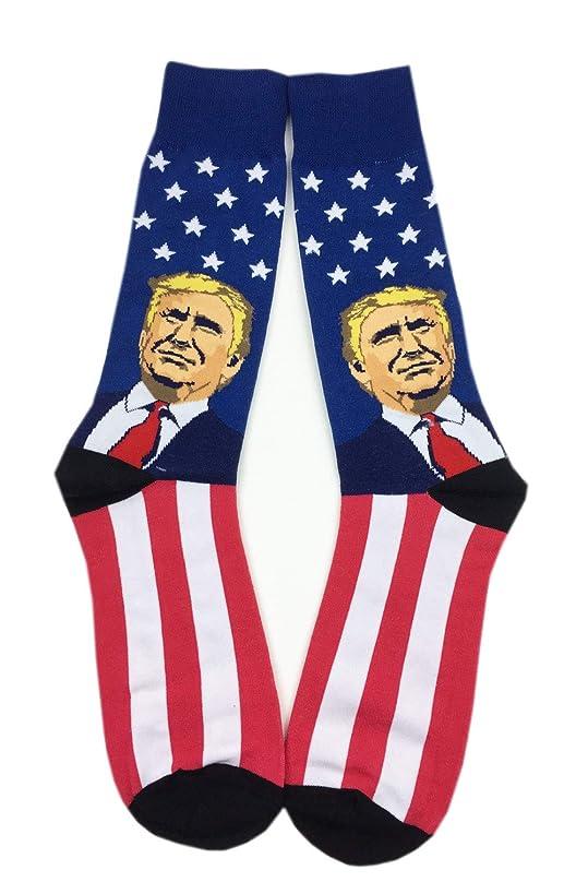 Aesthetinc U.S. President Trump Patriotic American Design Novelty Cotton Socks