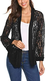 Womens Lace Shrug Short Sleeve Sheer Bolero Cardigan for Women Dresses Jacket