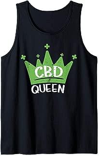 CBD Oil Queen Cannabis Natural Health Gift Tank Top