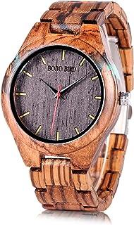 BOBO BIRD Special Design Mens Wooden Watches Sport Quartz Timepieces