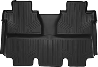 MAXLINER Floor Mats 2nd Row Liner Black for 2014-2018 Toyota Tundra CrewMax (Coverage Under 2nd Row Seat)