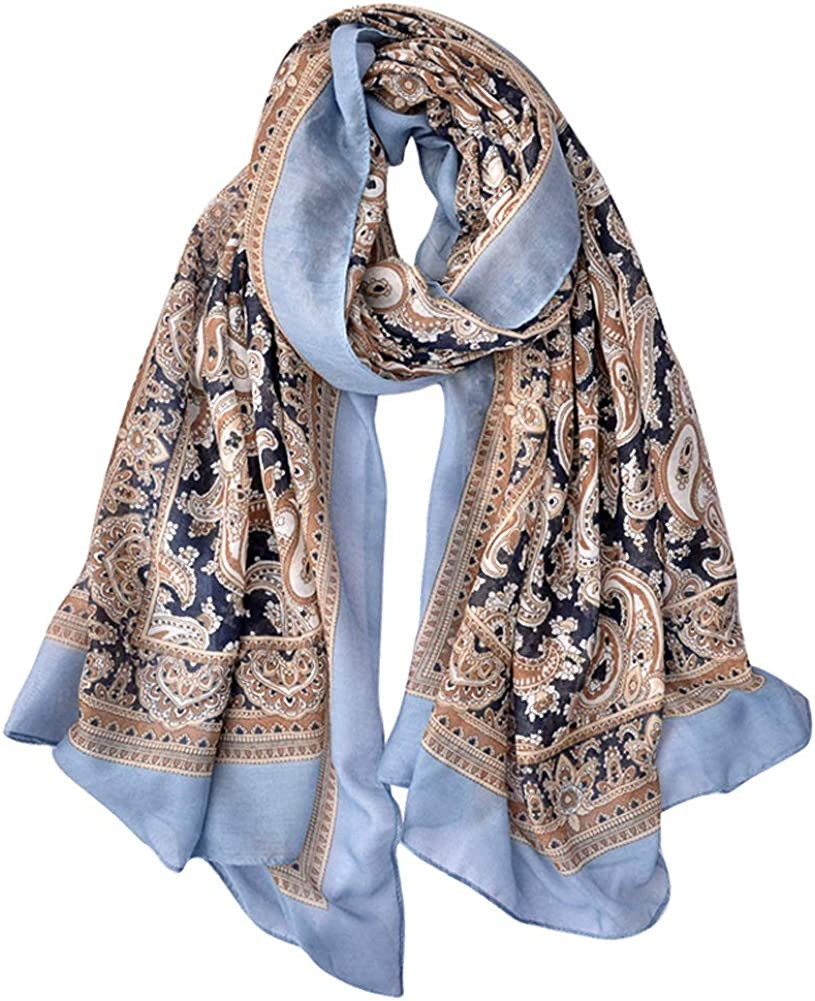 GERINLY Fashion Paisley Scarves Womens Evening Shawl Party Wrap