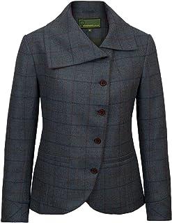 HIDEPARK Oban: Women's Blue Tweed Jacket