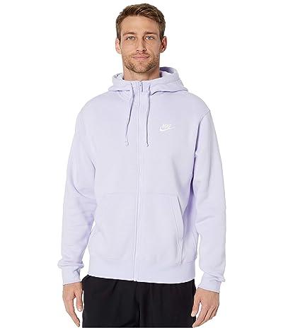 Nike NSW Club Hoodie Full Zip (Lavender Mist/Lavender Mist/White) Men