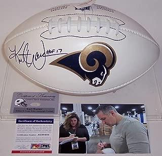 rams autographed football