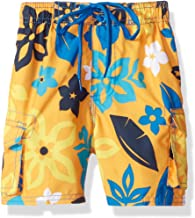 Kanu Surf Boys' Revival Floral Quick Dry Beach Board Shorts Swim Trunk